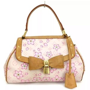 433c293a5 Louis Vuitton Lv Monogram Sac Retro Handbag Cherry Blossom Leather ...
