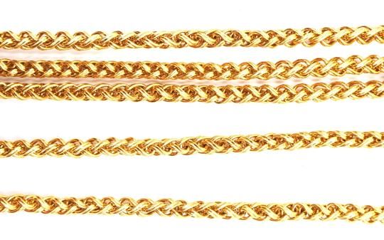 Chanel RARE CC cutout single chain long gold necklace belt two way Image 8