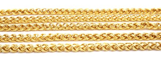 Chanel RARE CC cutout single chain long gold necklace belt two way Image 9
