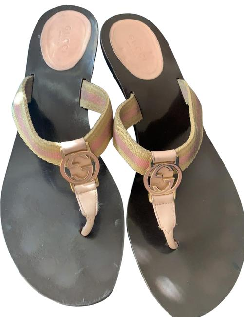 Item - Pink and Gold Sandals Size US 8.5 Regular (M, B)