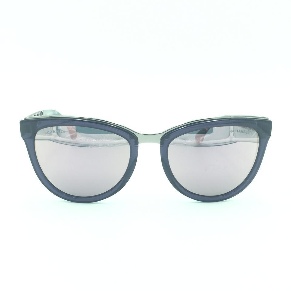 924a89bb8 Chanel Purple & Green Mirrored Cat Eyed 5361-q C.1576/5r Sunglasses ...