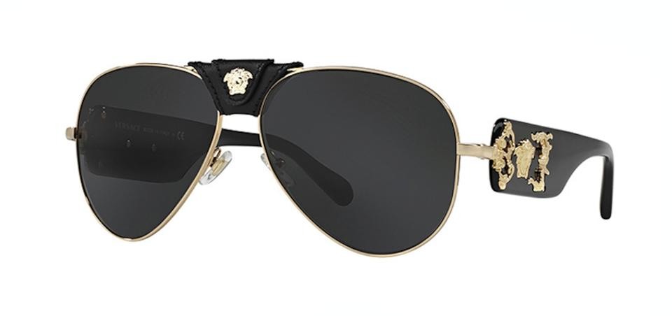 735557f32baed Versace Gold Large Oversized Aviator Ve 2150q 1002 87 - Free 3 Day Shipping  Sunglasses