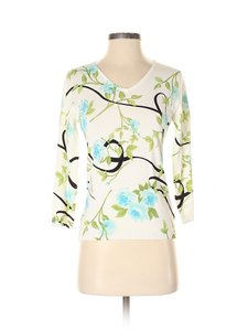 Christiana Floral V-neck Sweater