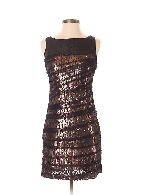 Item - Bronze Sequin Cocktail / Party Mid-length Night Out Dress Size 0 (XS)