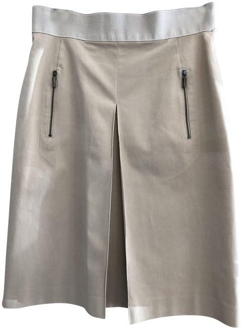 Item - Tan/Khaki Pleated A-line Skirt Size 6 (S, 28)