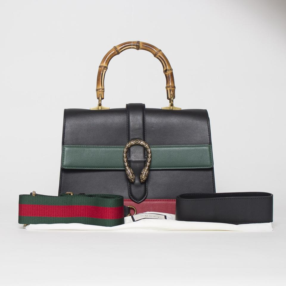 38127520680a Gucci Dionysus Large Bamboo Top Handle Black Leather Tote - Tradesy