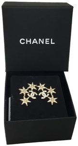 Chanel Gold stars and CC logo earrings