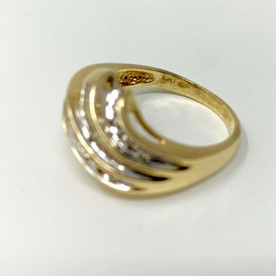 Other 14k Yellow Gold .4ct Round and Baguette Cut Diamond Ring Size 9 Image 2