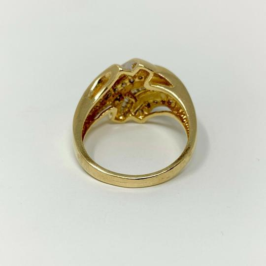 Other 14k Yellow Gold .4ct Round and Baguette Cut Diamond Ring Size 9 Image 3