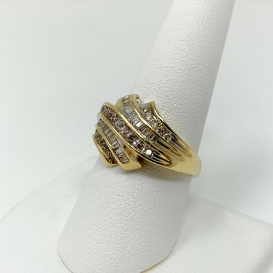 Other 14k Yellow Gold .4ct Round and Baguette Cut Diamond Ring Size 9 Image 4