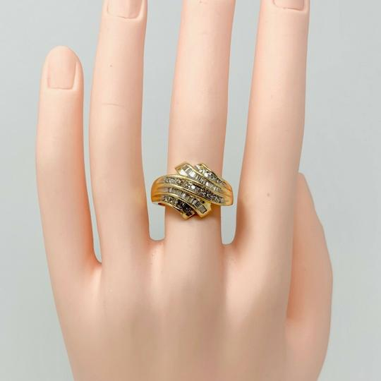 Other 14k Yellow Gold .4ct Round and Baguette Cut Diamond Ring Size 9 Image 6