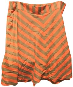 Outback Red Flared New With Tags Striped Lined Skirt Chacki green and orange shirt