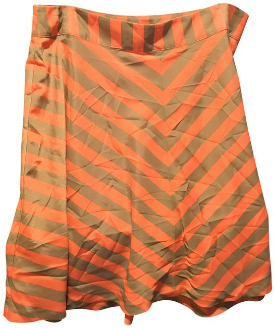 Item - Chacki Green and Orange Sherbet Flared Tags Skirt Size 10 (M, 31)
