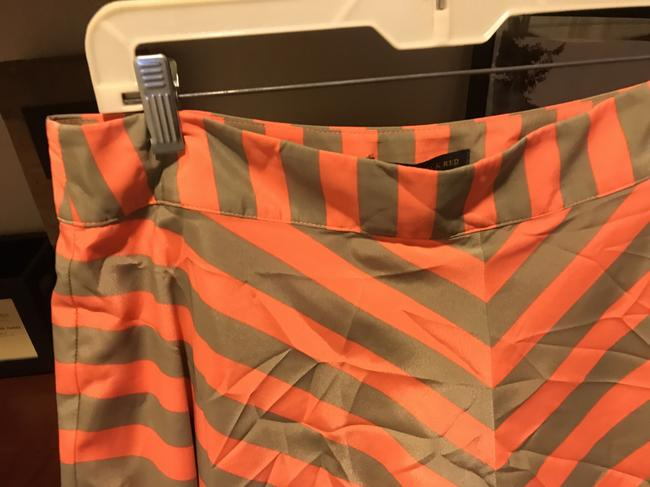 Outback Red Flared New With Tags Striped Lined Skirt Chacki green and orange shirt Image 2
