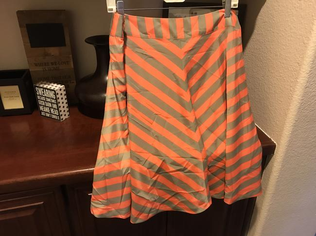 Outback Red Flared New With Tags Striped Lined Skirt Chacki green and orange shirt Image 5