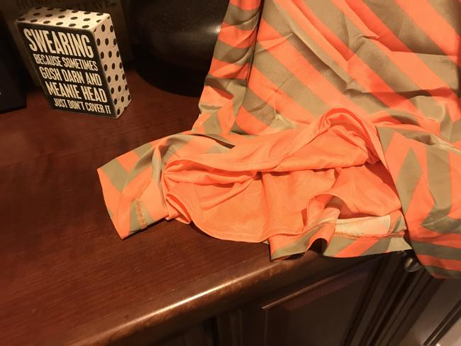 Outback Red Flared New With Tags Striped Lined Skirt Chacki green and orange shirt Image 9