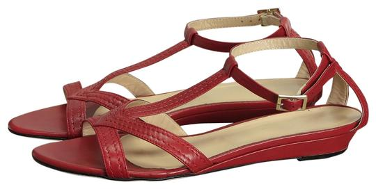 St. John Leather Red Sandals Image 0