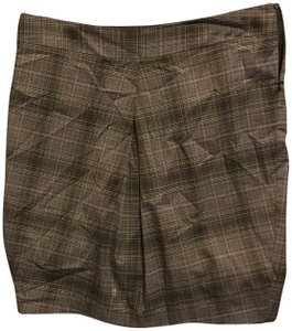 The Limited A Line Large Front Pleat Great Style Skirt Black gray and silver