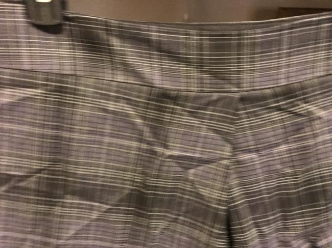 The Limited A Line Large Front Pleat Great Style Skirt Black gray and silver Image 9