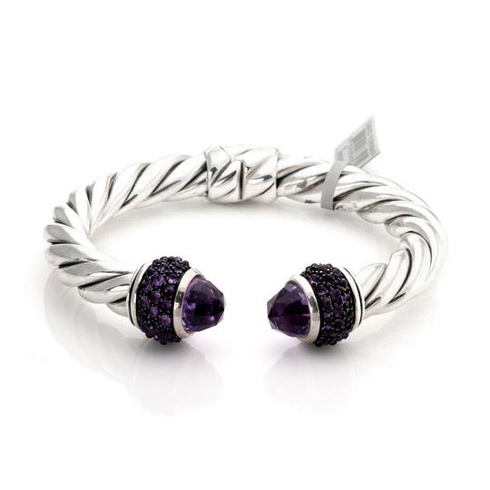 Preload https://img-static.tradesy.com/item/25110421/david-yurman-23335-amethyst-sterling-silver-9mm-thick-cable-cuff-bangle-bracelet-0-0-540-540.jpg