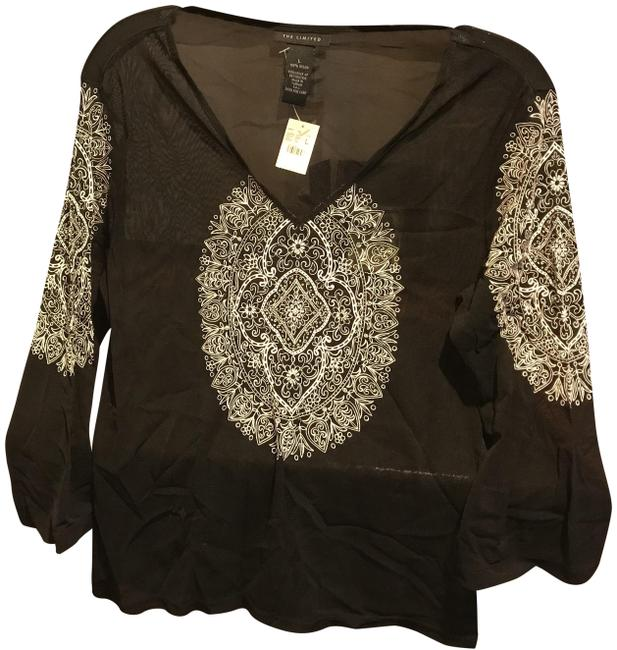 Preload https://img-static.tradesy.com/item/25110505/the-limited-black-with-white-etching-sheer-34-sleeve-sequins-new-blouse-size-12-l-0-1-650-650.jpg