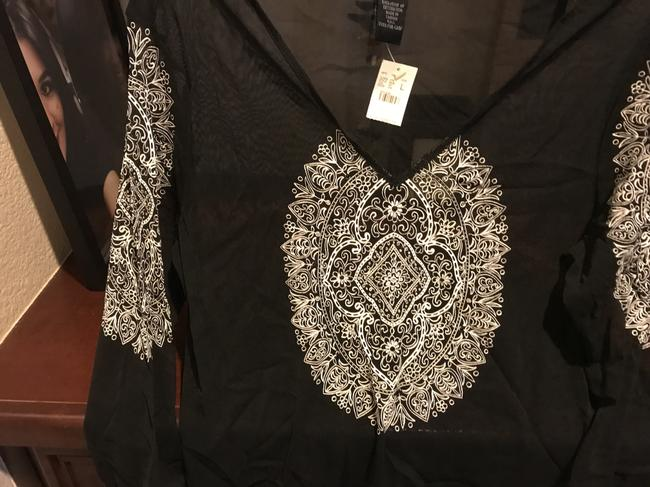 The Limited Sequins Sequins New Tags Top Black with white etching Image 11