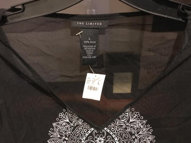 The Limited Sequins Sequins New Tags Top Black with white etching Image 7