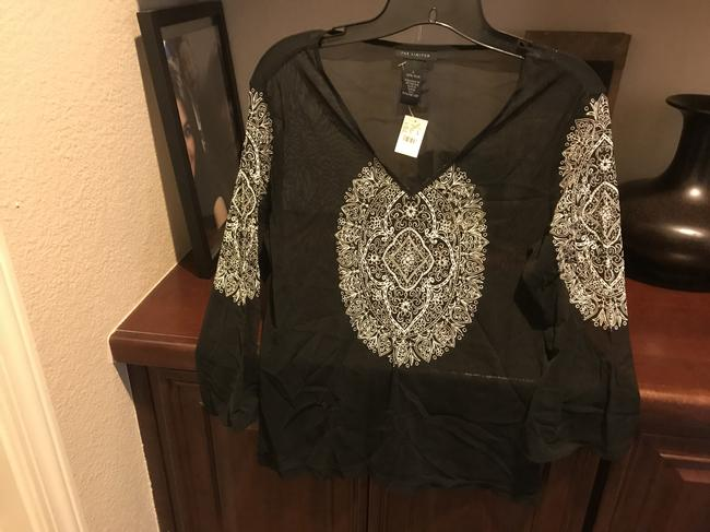 The Limited Sequins Sequins New Tags Top Black with white etching Image 8