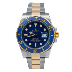 Rolex Rolex Submariner Date 116613LB 40MM Blue Dial With Two Tone Bracelet