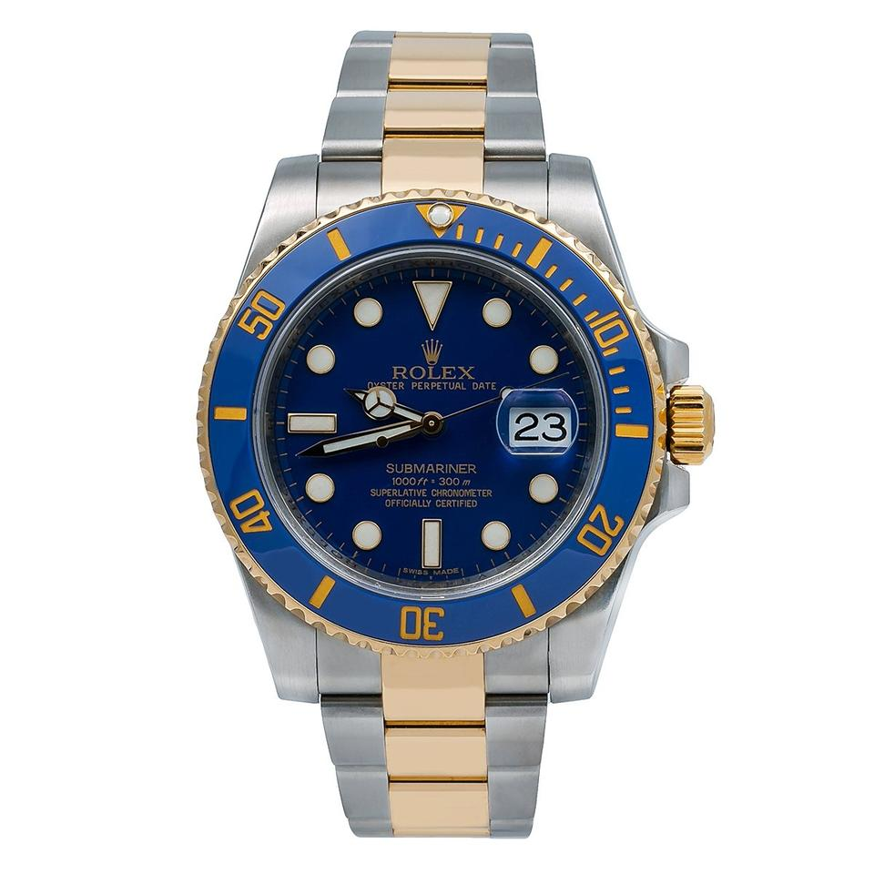 Rolex Blue Submariner Date 116613lb 40mm Dial with Two Tone Bracelet Watch