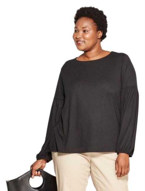 Preload https://img-static.tradesy.com/item/25110553/ava-and-viv-plus-size-pleated-long-sleeve-bishop-sleeve-knit-sweater-0-1-650-650.jpg