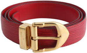 Louis Vuitton Louis Vuitton Red Epi Ceinture 85