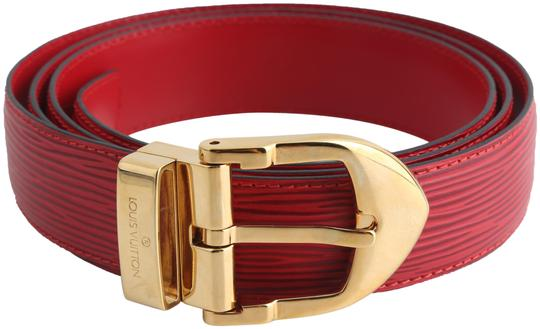 Louis Vuitton Louis Vuitton Red Epi Ceinture 85 Image 0