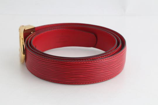 Louis Vuitton Louis Vuitton Red Epi Ceinture 85 Image 1