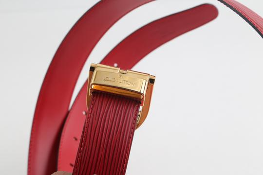Louis Vuitton Louis Vuitton Red Epi Ceinture 85 Image 10