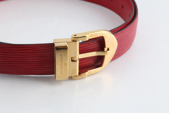 Louis Vuitton Louis Vuitton Red Epi Ceinture 85 Image 11