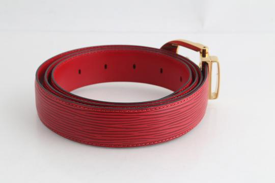 Louis Vuitton Louis Vuitton Red Epi Ceinture 85 Image 2