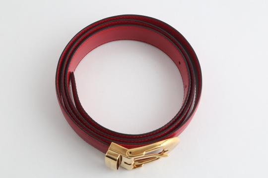 Louis Vuitton Louis Vuitton Red Epi Ceinture 85 Image 3