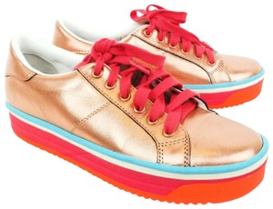 Marc Jacobs Metallic Platform Leather Peach / Pink / Blue Athletic