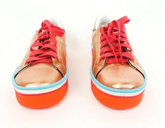 Marc Jacobs Metallic Platform Leather Peach / Pink / Blue Athletic Image 1