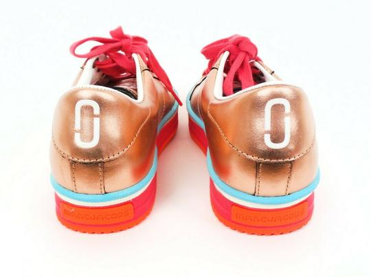 Marc Jacobs Metallic Platform Leather Peach / Pink / Blue Athletic Image 2