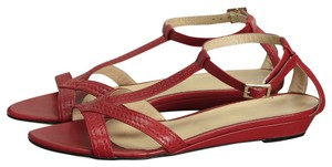 St. John Leather Red Sandals