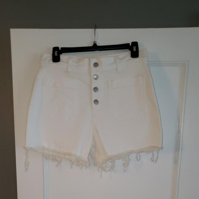 Madewell Cut Off Shorts White Image 0