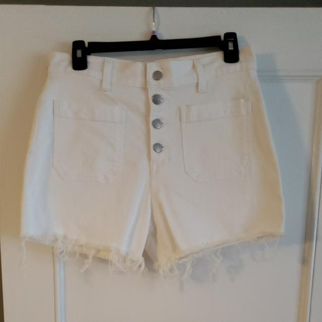 Madewell Cut Off Shorts White Image 1