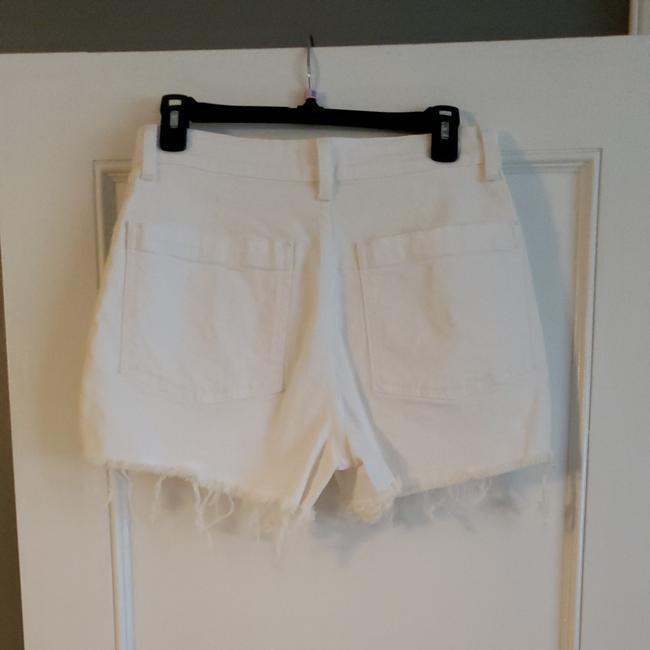 Madewell Cut Off Shorts White Image 2