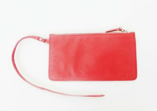 Prada Pink Leather Zip Pouch Image 1