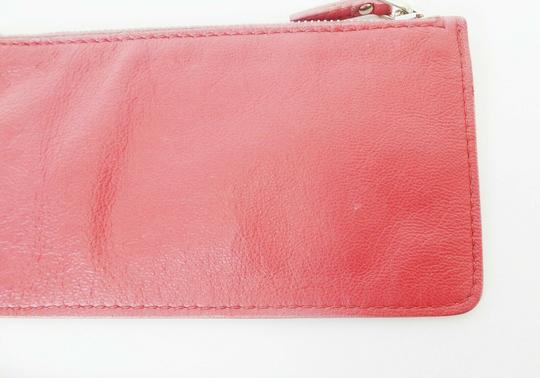 Prada Pink Leather Zip Pouch Image 2
