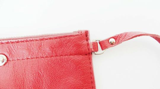 Prada Pink Leather Zip Pouch Image 3