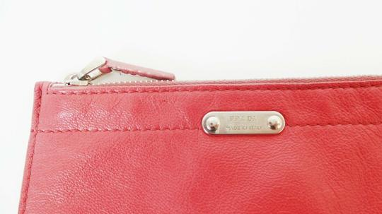 Prada Pink Leather Zip Pouch Image 4
