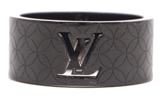 Preload https://img-static.tradesy.com/item/25110702/louis-vuitton-28547-black-rare-lv-logo-cutout-textured-quilted-wide-band-9mm-wide-ring-0-1-540-540.jpg